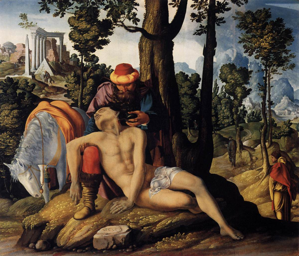 Den barmhjertige sameritaner Rijksmuseum Amsterdam Ukendt kunstner1537